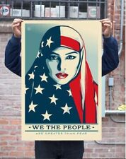 Shepard Fairey Obey Giant We The People Greater Than Fear Art Print Poster