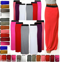 New Ladies Womens Gypsy Long Jersey Maxi Dress Skirt Ladies Skirt Size 8-26 jrsy