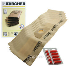 5 x Genuine Karcher Vacuum  Dust Bags A2254 A2534 MV3 Hoover Bag + Fresh