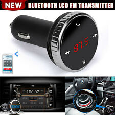 Wireless Bluetooth LCD Modulator Car Kit MP3 Player SD w/Remote FM Transmitter