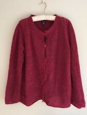 EILEEN FISHER CARDIGAN SIZE SMALL MOHAIR WOOL SWEATER BEAUTIFUL RED