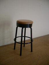 Dollshouse miniature ~ BLACK & BEECH ~ Bar Stool