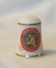 Franklin Mint Country Store Advertising Thimble 1980 – Moxie Drink
