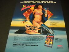 SUSANNA HOFFS from the Bangles in the ALLNIGHTER and Bikini 1987 PROMO POSTER AD