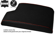 RED STITCH ARMREST COVER PERFORATED LEATHER FOR BMW 3 SERIES E90 E91 E92 E93