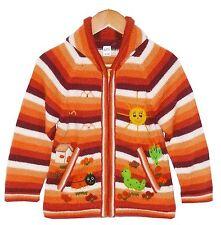 weiche Alpaka STRICKJACKE Gr.92*98, orange braun, Tiere, Alpaca Wolle Inka Peru