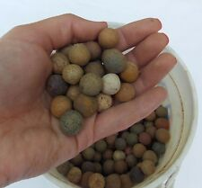 4 Old Primitive Marbles, Estate Found Fresh, Clay/Porcelain, Colored, FREE SHIP