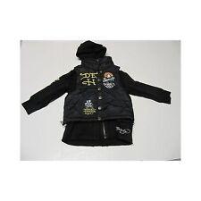 Ed Hardy Kids Black Puffer Vest w/ Hoodie Sweatshirt Jacket Size 4