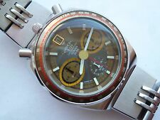 "SEIKO ALBA AKA BULLHEAD CHRONOGRAPH V657-6060 BROWN ""EXCELLENT"""