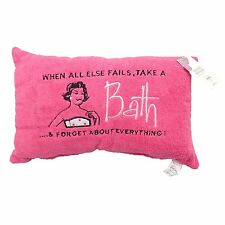 """When All Else Fails"" Embellished Bath Pillow in Pink"