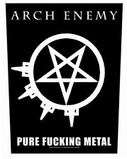 ARCH ENEMY - Rückenaufnäher Backpatch Pure Fucking Metal
