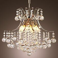 Modern Home 6 Lights Pendant Lamp Crystal Ceiling Lighting Sparkling Chandelier