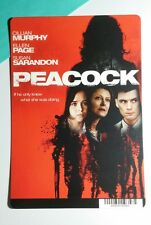 PEACOCK PAGE MURPHY SARANDON COVER ART MINI POSTER BACKER CARD (NOT a movie)