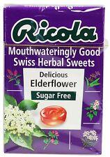 Ricola Elderflower Svizzero Erbe gocce LOZENGES Caramelle SUGAR FREE 45g (pacco da 6)