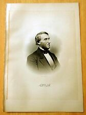 Antique Print 1885 CHARLES DARWIN FITCH, Greenfield, NH STEEL ENGRAVING Portrait