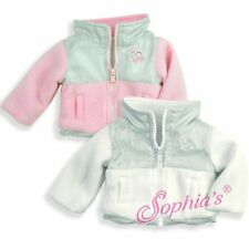 """Doll Clothes AG 18"""" Jacket Pink Fleece Sophia's Made To Fit American Girl Dolls"""
