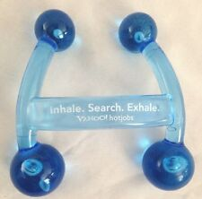 "Blue Resin 5"" Ball Massage Equipment with Yahoo Advertisement"