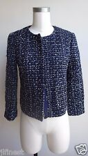 New Women J.Crew Midnight Tweed Jacket, Navy Multi, Size 2