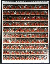 Michael Jordan Legacy Collections RARE Uncut Sheet 90-cd 2-Sided + Bonus Poster