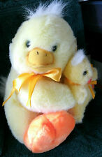 YELLOW DUCK with BABY ATTACHED PLUSH  W/ORIGINAL TAG from CHRISTMAS TREE SHOPS