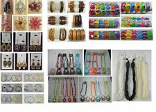 Fashion Jewelry lots 100 Pcs Mixed Earrings Bracelets  and Necklaces lot no #21
