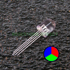 25pcs Round 10mm RGB LED Clear Lens Common Cathode Ham Radio USA Seller 25x Z10