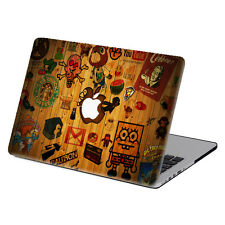 "3IN1 Wood Painting Hard Rubberized Case Cover For Macbook Pro Air 11""13""15"" 12"""