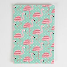 Sass and Belle A5 sized Notebook - Tropical Summer Flamingo design, Plain paper