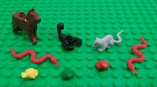 *NEW* Lego Bulk Animals Brown Dog Scorpion Red Snakes Green Yellow Frogs Rat