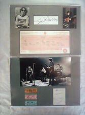"""2 x BEATLES AUTOGRAPHED,10"""" X 8"""" REPRODUCED ON GLOSSY PHOTO PAPER FOR FRAMING"""