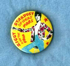 DAVID BOWIE BADGE & STICKERS. Ziggy Stardust, Glam.