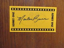 "MARLANE BARNES(""The Twilight Saga:Breaking Dawn-Part 2"")Signed 3 x 5 Orange Card"