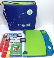 LeapFrog LeapPad Learning System Bilingual Spanish English Case Cartridges