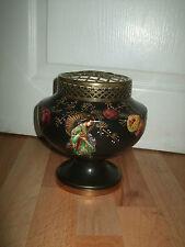 flower vase, Japanese flower vase, flower posy, stunningly painted