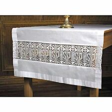 Latin Cross and IHS Lace Altar Frontal Cloth NEW SKU VS941