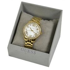 "Ladies' Mini Allure ""Tono Oro Y Cristal Set Analógico Reloj Guess (w0444l2)"
