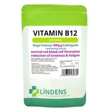 Vitamin B12 1000mcg, 100 Sublingual Tabs
