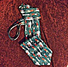 MENS TIE 'RENE CHAGAL' HAND MADE SILK GREEN GOLFERS NOVELTY THEME SMART COOL