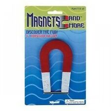 Metal Horseshoe Red Magnet 4 inch, Science Project Classrom, New, Free Shipping