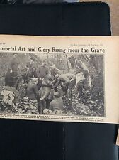 M5-5 ephemera  WW1 1918 l picture  french soldiers exhume rodin statue eve douai
