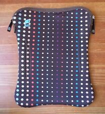 "Built NY Laptop Tablet Neoprene Bag 14""x10.5"" Sturdy Zipper Polka Dots Macbook"