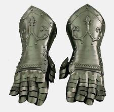 Platten Ritter Handschuhe Rüstung Ritterhelm LARP Reenactment sca  R21M