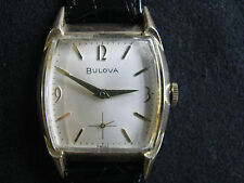 VINTAGE BULOVA 1960'S MINUTEMAN WATCH WORKING 17 JEWELS 11AL AWESOME COND. 10K