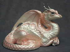 Windstone Editions *Shell Pink Lap Dragon * Figurine Statue Figure Magic Fantasy