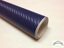 2m x 1.5m 3D Dark Blue Carbon Fibre Vinyl Wrap Adhesive Decal Film (Bubble Free)