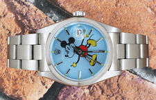 Gents Vintage Blue Mickey Mouse Dial Rolex Oysterdate Precision 6694.