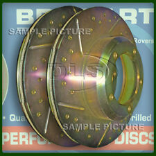 """RANGE ROVER P38  """"DRILLED"""" VENTED FRONT DISCS"""