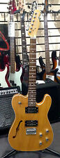 SQUIER MASTER SERIES THINLINE HH TELECASTER, TRANSPARENT CRIMSON AMBER, USED