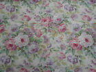 Sanderson Curtain Fabric 'Amelia Rose' 2.1 METRES (210cm) Pink/Mauve Linen Mix