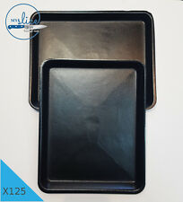"125 x BLACK FOAM MEAT/FOOD TRAY 9"" X 11"" - Butcher, Home Kill, Restaurant, Cafe."